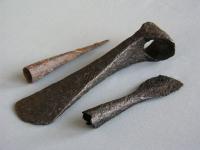 Geležiniai ietigaliai, siauraašmenis kirvis IX-XII a., Žaslių sen.