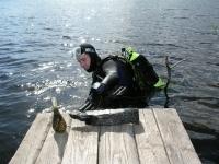 4.Povandeniniai žvalgymai Gabio ežere 2005 m. Vadovė E. Pranckėnaitė. R. Gustaičio nuotr.