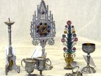 Miniatiūriniai liturginiai reikmenys, naudoti tremtyje. XX a. pr.