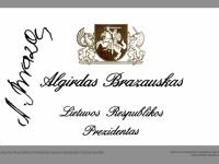 Lietuvos Respublikos Prezidento Algirdo Brazausko vizitinė kortelė (su parašu).