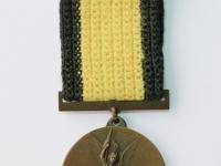 33. Medalis. Lietuvos nepriklausomybės dešimtmečio. Lietuva. 1928 m. Bronza, Ø 36 mm. Priklausė Nepriklausomybės kovų savanoriui Juozui Lelešiui (1903–1996). Fot. Nijolė Adukonienė (aversas)