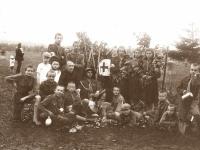 27. Trakų (Kaišiadorių) skautų stovykloje. 1928 m. (KšM)