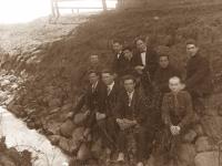 """7. Atskiros Kaišiadorių skautų """"Liūtų"""" skilties nariai. 1928 m. (KšM)"""