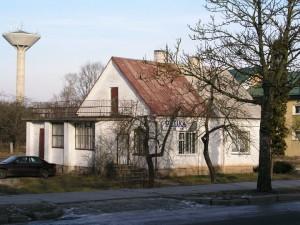 Prof. Viktoro Ruokio namas Kaišiadoryse dabartinėje Gedimino g. 2005 m. (nugriautas 2008 m.)