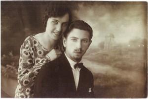 Adomas Jakševičius su žmona Sofija