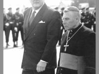 Lietuvos Respublikos Prezidentas Algirdas Mykolas Brazauskas ir kardinolas Vincentas Sladkevičius. 1993 m. Antano Sutkaus nuotr.
