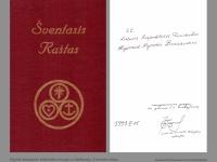 Algirdo Brazausko bibliotekos knyga su dedikacija. Šventasis raštas. Brookfield, Illinois. 1988 m.