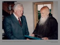 Algirdas Mykolas Brazauskas ir Algirdas Mykolas Dobrovolskis (Tėvas Stanislovas).