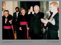 Lietuvos Respublikos Prezidento Algirdo Brazausko apsilankymo Vatikane akimirka. 1994 m. Kęstučio Vanago nuotr.