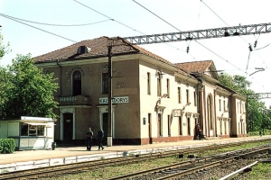 Kaišiadorių geležinkelio stotis. 2000 m.