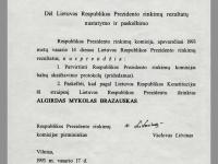 Respublikos Prezidento rinkimų komisijos sprendimas.