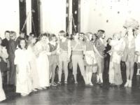 Naujametinis karnavalas Kaišiadorių 2-oje vidurinėje mokykla. 1984–1985 m.