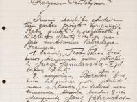2. Prašymas įsteigti pirmąsias Kaišiadorių skautų draugoves. 1928 m. kovo 1 d. (LCVA)