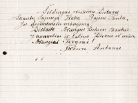 29. Antano Škėmos sveikinimas Trakų (Kaišiadorių) skautų 10-mečio proga. 1937 m. (LCVA)