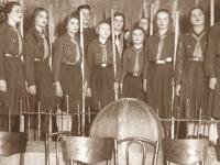 31. Pirmasis skautų viešas vakaras. Vaizdelis Skaučių stovykla. 1928 m. (KšM)