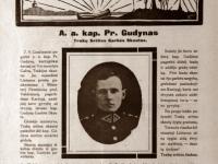 40. Publikacija apie Trakų (Kaišiadorių) srities garbės skautą Praną Gudyną. Skautų aidas. 1929 m.